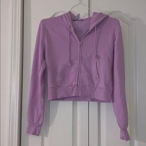 cropped lavender brandy hoodie